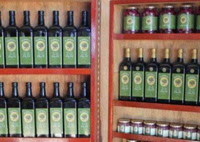 5 Marbrin olive bottles
